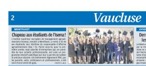 visuel article La Provence remide diplome 2017 66e20